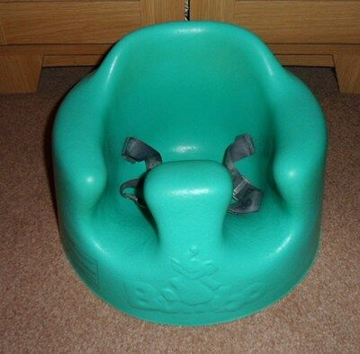 Aqua Bumbo Baby Chair/seat With Harness & Snack Tray