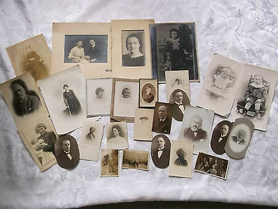 Job Lot Old Family Photographs, Late Victorian Or Edwardian Photo's