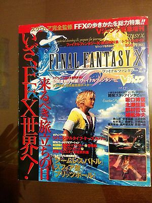 Final Fantasy X 10 Japan import game guide and art book RARE