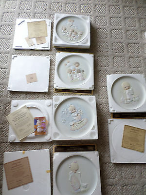 Precious Moments Lot of 9 Collector's plates Christmas Collection, Inspried Thou