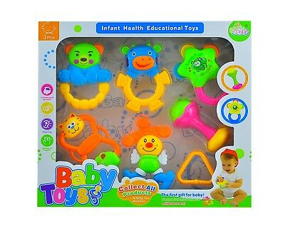 6 pcs Baby Rattles Set / Rattle  Easy Grip Baby Toy Baby Activity Toys 3 Months+