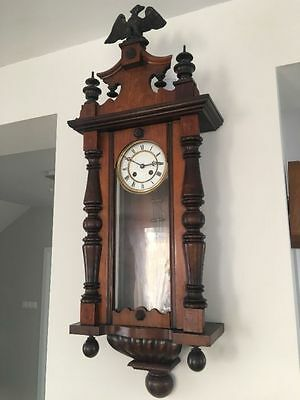 Large Antique Gustav Becker Vienna Wall Clock
