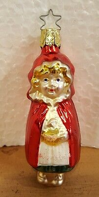 OLD WORLD INGE ORNAMENTS CHRISTMAS  Small Little Red Riding hood Girl Vintage