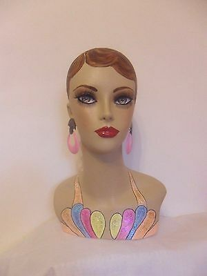 Hand painted mannequin head and shoulders
