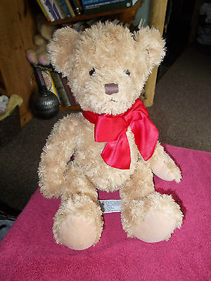"""Russ Berrie Cubby Teddy Bear Large Beige Brown 15"""" Plush Soft Toy Free Uk P&p"""