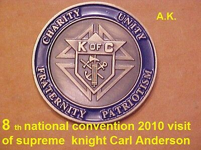 8 th national convention 2010 visit of supreme  knight Carl Anderson