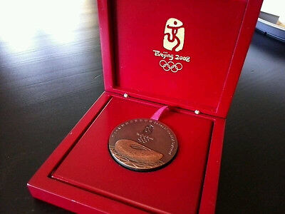 Olympic Medal Beijing 2008 China Participation in Box Original Rare