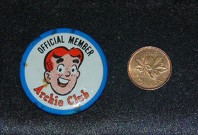 Archie Club Official Member Pinback Button 1960