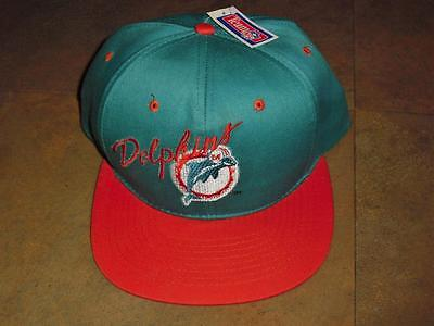 new concept fa7e7 1b94f ... sale miami dolphins hat snapback ajd mint vintage 90s ds rare nwt new w tags  nfl