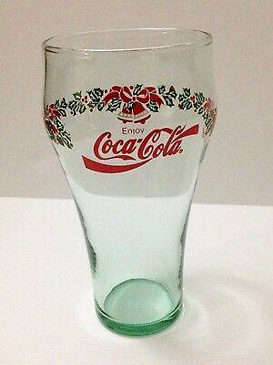 Vintage Coca-Cola Coke Christmas Holiday Bells Holly Collectible Drinking Glass