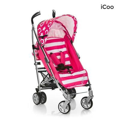 ICOO Poussette Canne Pluto - Stripe pink