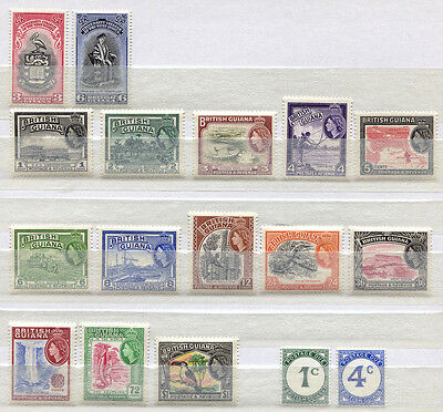 British Guiana Set of 17 mint MNH stamps issued 1940-54 - FREE UK POSTAGE