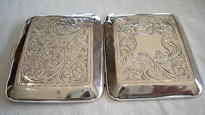 Antique Solid Silver Cigarette or Card Case (1928 - no monogram)