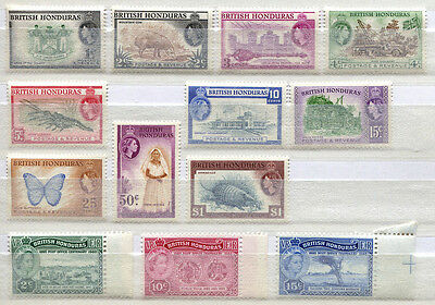 British Honduras Set of 13 mint MNH stamps issued 1953-60 - FREE UK POSTAGE