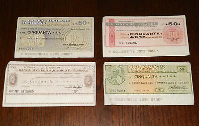 Selection of ITALY CHEQUE, 50 LIRE