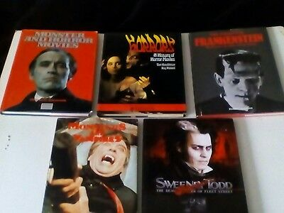 HORROR FILM HARDBACKS x 5 LOT