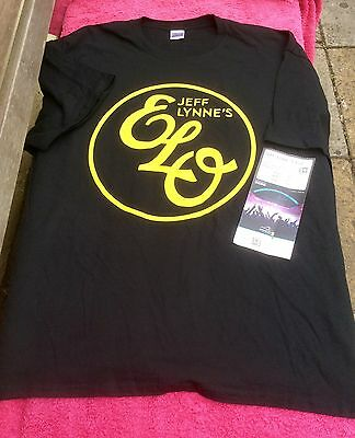JEFF LYNNE'S ELO ALONE IN THE UNIVERSE  T SHIRT With Wembley Used Ticket 2XL