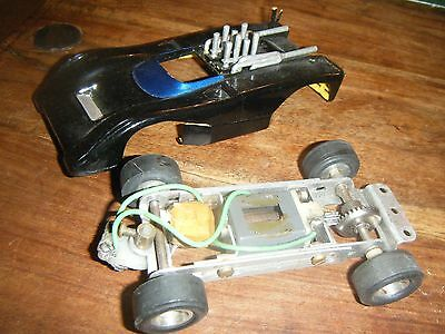 Vintage Revell Scalextric Metal Slot Car with Extendible Chassis