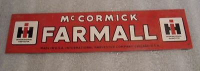 Older I H Farmall Tin Sign