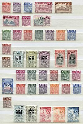 St. Lucia Set of 41 mint MNH stamps issued 1938-60 - FREE UK POSTAGE