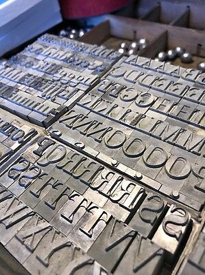 48 Pt Bodoni Caps, Lowercase  & Numbers.  Metal Type Letterpress