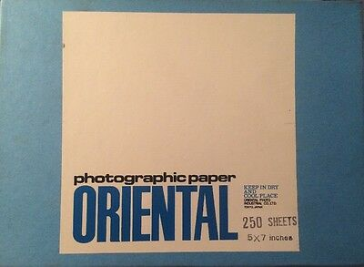 Oriental Photographic Paper Seagull F-2 Bromide Sealed Box 250 Pc 5x7 Expired 2