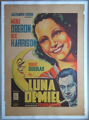 Over the Moon, 1946; Original Mexican 1 sheet movie poster, linen-backed