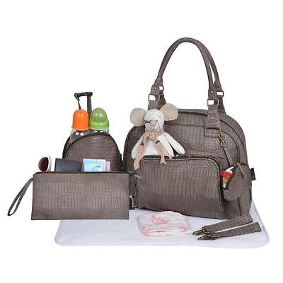 BABY ON BOARD Sac a langer Mon Croco Bag Taupe