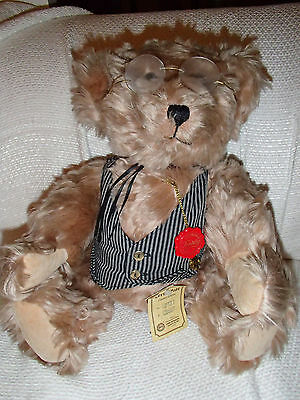 """Limited Edition Hermann Collector Teddy Bear 913 Of 3000 certificate 13"""" Movable"""