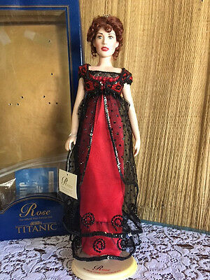 "16""  Franklin Mint Titanic ROSE Portrait Vinyl Doll *Excellent Condition* COA"