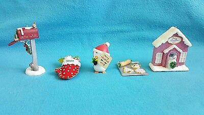 Set 5 Hallmark Keepsake Ornaments VIP Gift 2006 2008 2009 2010 2011 Boxes