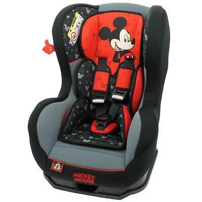 MICKEY Siege Auto Groupe 0+/1 Cosmo SP Luxe Noir Rouge