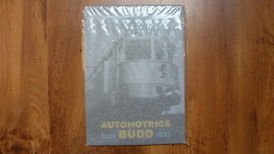 Plaque automotrice Budd 1937  Ed. Atlas