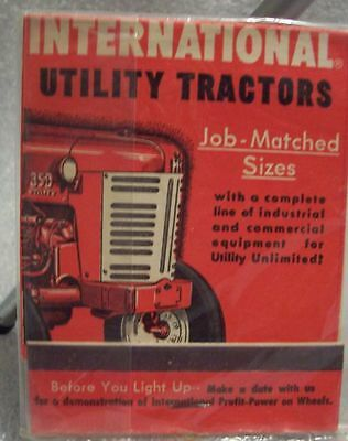 International Harvester Co. Utility Tractors matchbook with match's old/Rare