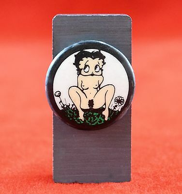 "Rare Antique Vintage Betty Boop 1"" Pin Back Button Racy X-Rated Dirty Boop"