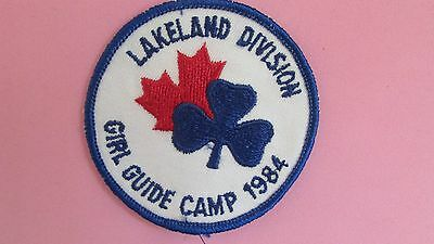 Lakeland Division 1984 Girl Guide Camp Patch