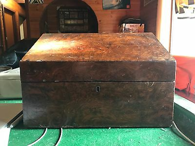 Antique timber file box