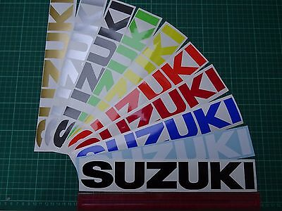 "2 x SUZUKI Large (300mm 12"") Vinyl Decals / Stickers Tank, Swingarm , Bellypan"