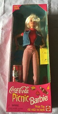 1997 Coca Cola Picnic Barbie - Special Edition -Sealed In Box!