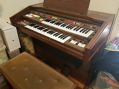 Elka Vintage Electric Piano Organ + Playing stool