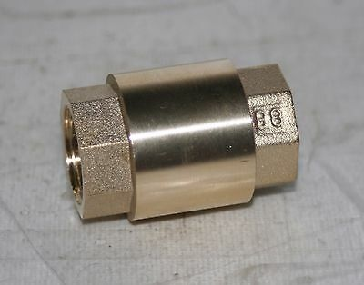 "1/2"" NPT  200# WOG  Spring Check Valve  Lead Free Brass"