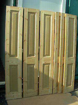6 x NEW HANDMADE BESPOKE SOLID WINDOW SHUTTERS VICTORIAN GEORGIAN PERIOD BI-FOLD