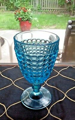 Excellent EAPG Antique Vintage Adams 1000 Thousand Eye Goblet Circa 1874