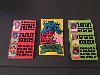1981 Topps Baseball Scratch-Off Lot Of 117 Cards Plus Wax Pack