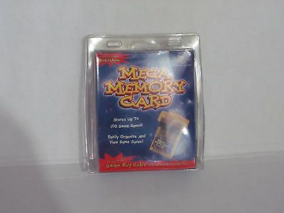 Game boy InterAct Mega Memory Card Game boy Color Pocket rare brand new