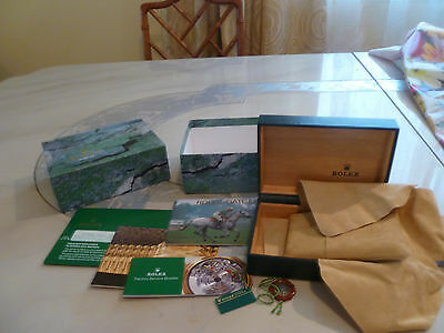 ROLEX Oyster Box, Case, tags ,Cloth Pillow & Booklets Empty Watch Box Only