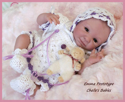 "Reborn Babies Emma Unpainted KIT ONLY by Denise Pratt 10"" Mini Tiny Preemie"