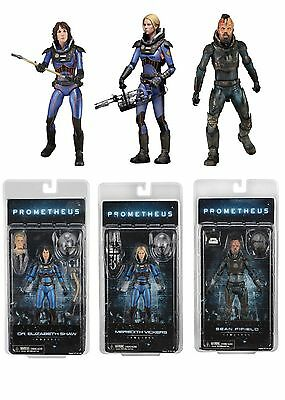 NECA PROMETHEUS SERIES 4 THE LOST WAVE - SET OF 3 x ACTION FIGURES FIFIELD SHAW
