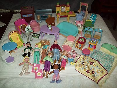 Fisher Price Loving Family Furniture And Dolls