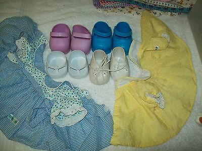 Cabbage Patch Doll Shoes Lot Of 4 Pairs  And 2 Tops